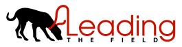 Leading the Field. Cramlington dog walker logo